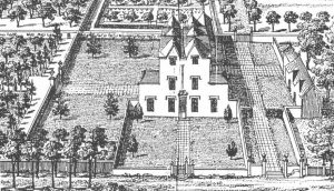 Fig.2 View of the original Cleve Hill House looking north by Johannes Kip c. 1710Fig.2 View of the original Cleve Hill House looking north by Johannes Kip c. 1710