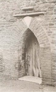 Plate 1 Mid 18th century arched doorway in boundary wall, Cleeve Court (NGR ST 6498 7718).
