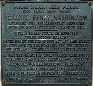 833 mod Washington plaque